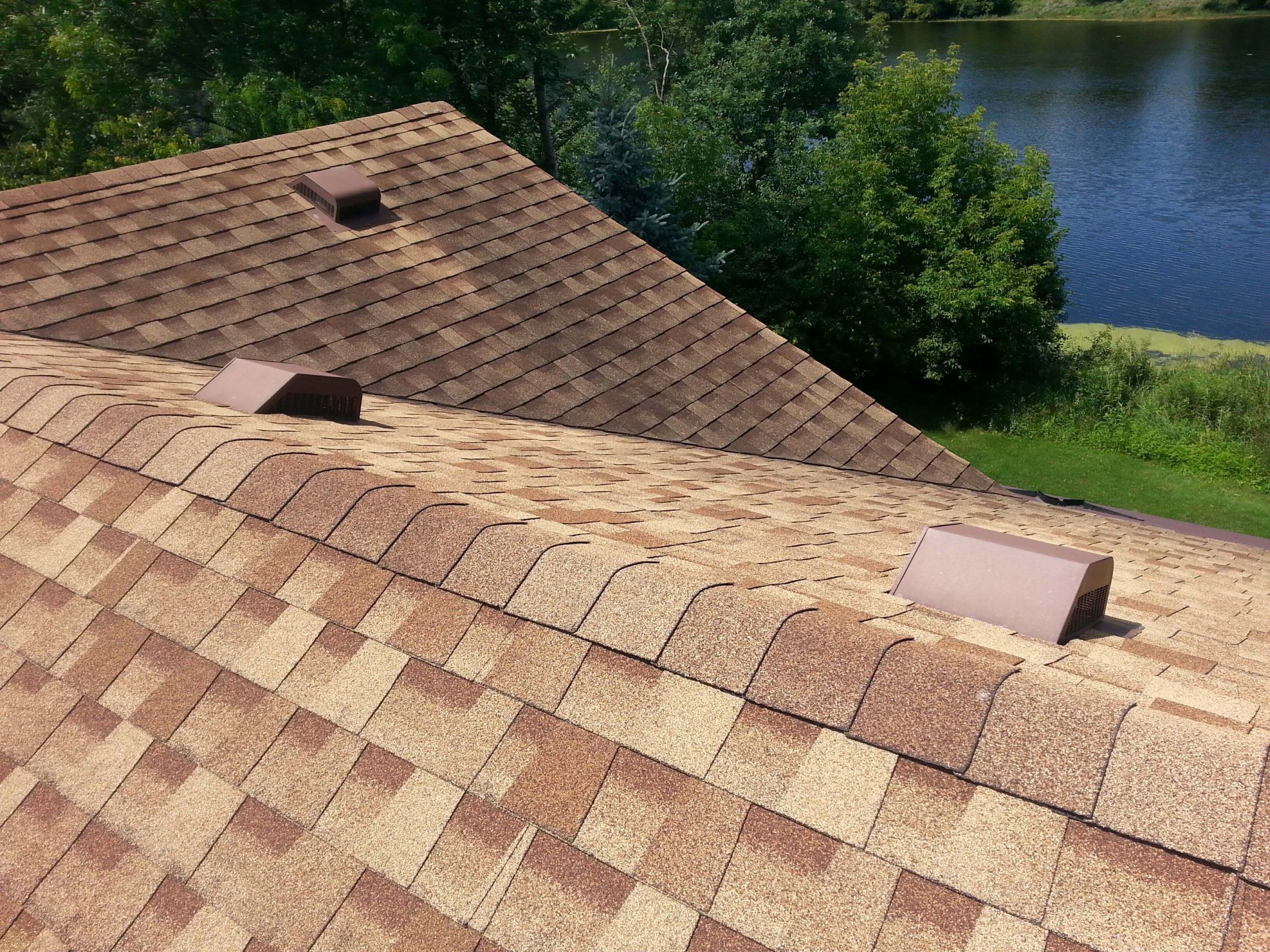 GAF roof view